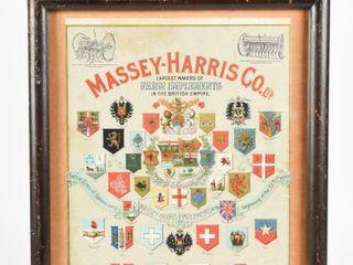 MASSEY HARRIS GlOBE PAPER ADVERTISING FROM 1900