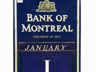 BANK OF MONTREAl SST SElF FRAMED CAlENDAR