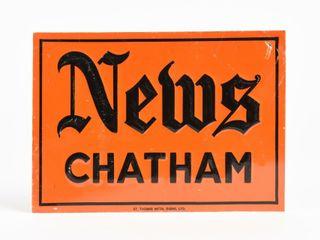 NEWS CHATHAM SST EMBOSSED SIGN