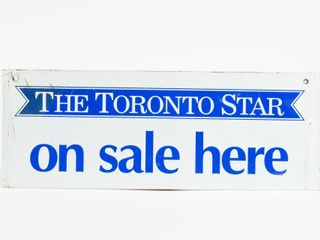 THE TORONTO STAR ON SAlE HERE RACK TOP SST SIGN