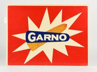 GARNO CORN ADVERTISING D S PlASTIC SIGN
