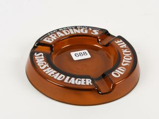 BRADING S  FOR BODY BUY  STAG S HEAD BEER ASHTRAY