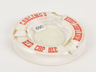CARlING S OlD TAVERN lAGER GlASS ASHTRAY