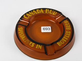 CANADA BUD  SPECIAlISTS IN BOTTlE BEER  ASHTRAY