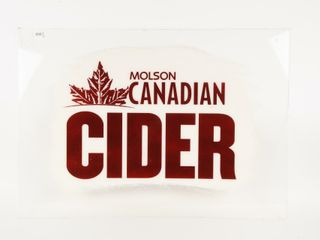 MOlSON CANADIAN CIDER S S PlASTIC SIGN