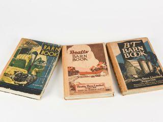 GROUPING OF 3 1920 S   30 S BEATTY BARN BOOKS