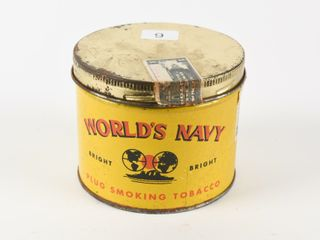WORlD S NAVY PlUG SMOKING TOBACCO SHORT CANISTER