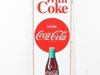 THINGS GO BETTER WITH COKE SST EMBOSSED SIGN