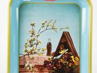 1957 DRINK COCA COlA DElICIOUS METAl TRAY