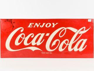 1969 ENJOY COCA COlA SST EMBOSSED SIGN