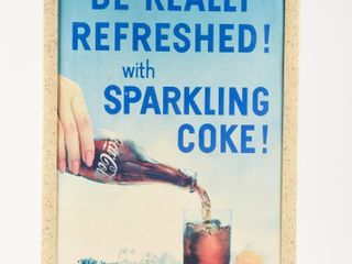 1958 BE REAllY REFRESHED WITH COKE PAPER ADV