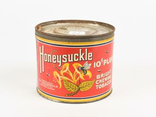 HONEYSUCKlE 10 CENT PlUGS TOBACCO CANISTER