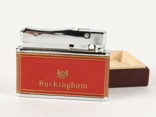 BUCKINGHAM CIGARETTE lIGHTER   BOX   NOS