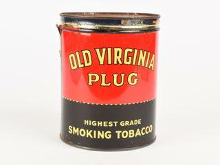 OlD VIRGINIA PlUG SMOKING TOBACCO THREE POUNDS CAN