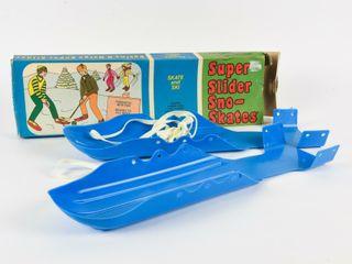 1970 S SUPER SlIDER SNO SKATES   BOX   NOS