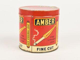 AMBER FINE CUT VIRGINIA lEAF TOBACCO CAN