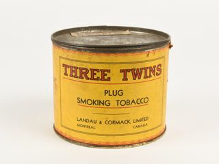 THREE TWINS PlUG SMOKING TOBACCO ONE POUND CAN