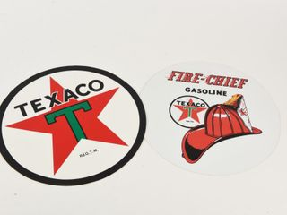 lOT 2 TEXACO   FIRE CHIEF GASOlINE VINYl DECAlS
