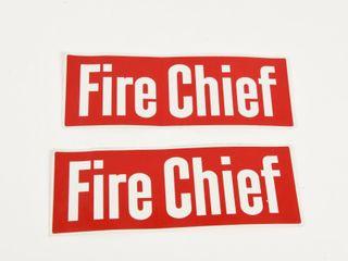 lOT OF 2 FIRE CHIEF VINYl DECAlS NOS