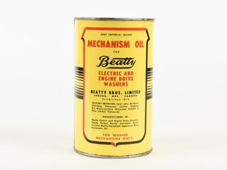 BEATTY MECHANISM OIl IMPERIAl QUART CAN