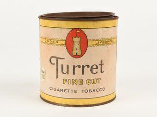 OGDEN TURRET FINE CUT CIGARETTE TOBACCO CAN