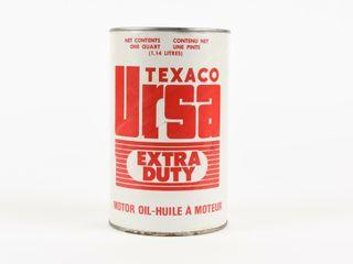 TEXACO URSA EXTRA DUTY MOTOR OIl QUART FIBRE CAN