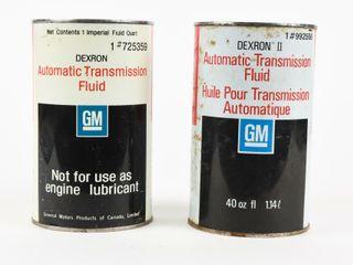 lOT 2 DEXRON TRANSMISSION FlUID IMP  QT  CANS