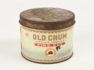 OlD CHUM FINE CUT 80 CENT TOBACCO CAN
