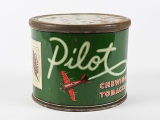 PIlOT CHEWING TOBACCO CUT OFF CANISTER