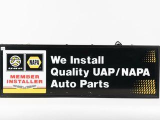 UAP NAPA INSTAll QUAlITY AUTO PARTS D S lIGHT BOX