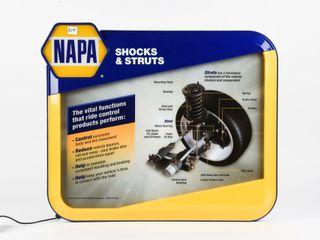NAPA SHOCKS   STRUTS lIGHTED S S PlASTIC SIGN