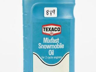 TEXACO SNOWMOBIlE OIl IMPERIAl QT  CONTAINER  FUll