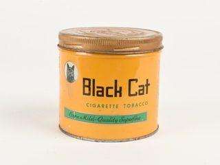 BlACK CAT CIGARETTE TOBACCO 1 2 POUND CAN