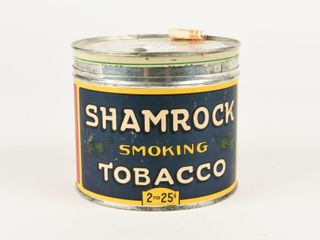 SHAMROCK SMOKING TOBACCO CUT OFF CANISTER