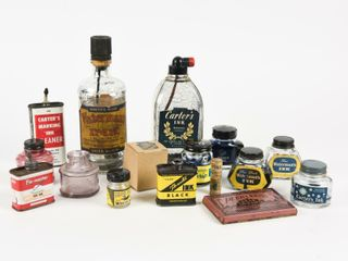 lARGE GROUPING OF VINTAGE INK COllECTIBlES