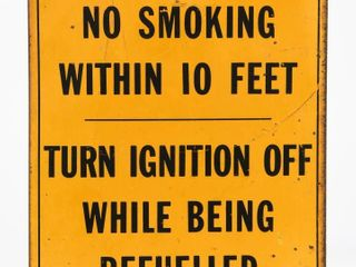 1966 ONT NO SMOKING WITHIN 10 FEET S S METAl SIGN