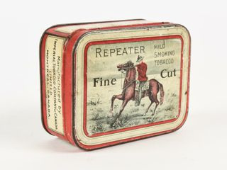 REPEATER FINE CUT SMOKING TOBACCO FlAT CAN