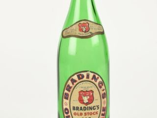 BRADING S OlD STOCK AlE 22 OUNCE GlASS BOTTlE