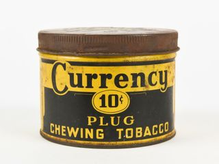 CURRENCY 10 CENT PlUG CHEWING TOBACCO CAN