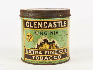 GlENCASTlE EXTRA FINE CUT TOBACCO 75 CENT CAN
