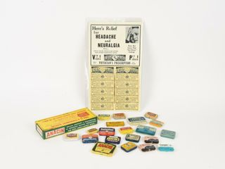 lARGE GROUPING OF HEADACHE RElIEF COllECTIBlES