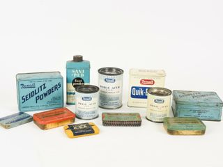 lOT OF 12 VINTAGE REXAll PRODUCT COllECTIBlES