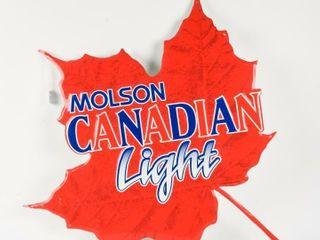MOlSON CANADIAN lIGHT S S AlUMINUM SIGN  NEW