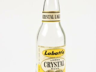 lABATT S CRYSTAl lAGER BEER GlASS 12 OZ  BOTTlE