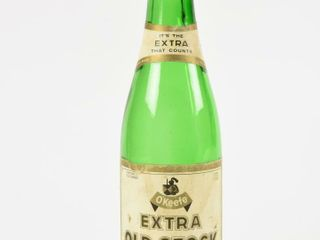 O KEEFE EXTRA OlD STOCK GREEN GlASS 12 OZ  BOTTlE