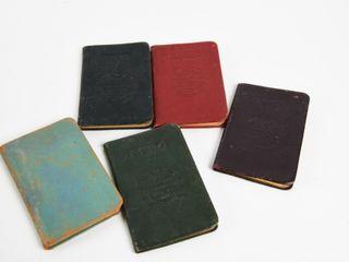 lOT OF 5 BRITISH AMERICAN MEMORANDUMS   NOTE PAD