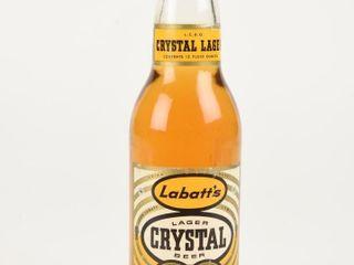 lABATT S CRYSTAl lAGER BEER 12 OUNCE BOTTlE  FUll