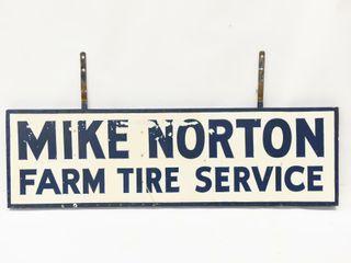 MIKE NORTON FARM TIRES SERVICE D S WOOD SIGN