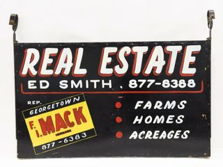 REAl ESTATE FARMS HOMES ACREAGES D S WOOD SIGN