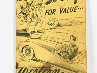 1954 WESTERN TIRE   AUTO SUPPlY CATAlOGUE